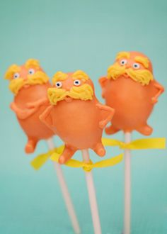 Or do I just buy...  Dr Seuss The Lorax movie Inspired cake pops by EntirelySweet, $39.00