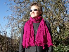 Magenta LARGE SCARF  Whiskey Seduction  womens by CharmeParisien