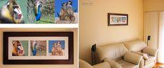 Láminas y/o cuadros de autor y temáticos diseñados, impresos y enmarcados para decoración de ambientes de usos mútiples.