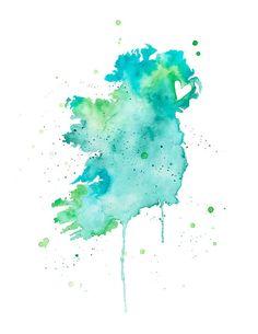 Ireland and Northern Ireland Love by poppyandpinecone on Etsy