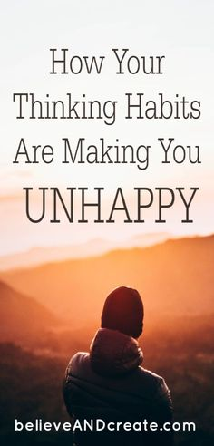Your thinking habits could be contributing to less joy and happiness in your life . some could be making you downright unhappy. Click through to learn if our mindset needs a makeover and what to do to enjoy the happy life you want. Self Development, Personal Development, Stress, Dating Coach, Relationship Coach, Coaching, Life Advice, Change, Self Confidence