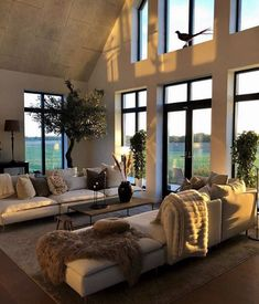 Modern Living Room Design Ideas,Stunning Living Room Decor Ideas Does this look like a cozy living room to you? Cozy Living Rooms, Living Room Interior, Living Spaces, Dream Home Design, Home Interior Design, Interior Modern, Luxury Interior, Home Improvement Loans, Scandinavian Home