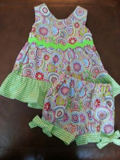 Summer dress with bloomers