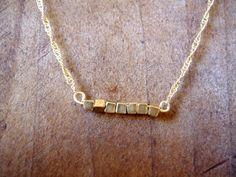 Sweet Pea Necklace. via Waffles and Honey on Etsy - love