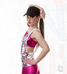 Curtain Call Costumes® - Live, Love, Dance Metallic poly/spandex bra top and… Hip Hop Costumes, Cute Dance Costumes, Just Dance, Dance Moms, Bra Tops, Tank Tops, Dance Stuff, Curtain Call, Capri Leggings
