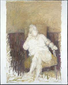 """bofransson:    Jacques TRUPHEMUS """"Aimée au fauteuil (Harmonie ocre et brun)"""""""