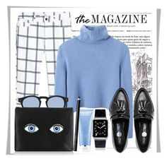 """Blues"" by stylemeup007 ❤ liked on Polyvore featuring MANGO, The Row, Illesteva, Charlotte Olympia, Daisy Street, Casetify, Lancôme, Organic Glam, Fall and loafers"