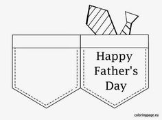 Happy Father's Day card Fathers Day Art, Fathers Day Crafts, Happy Fathers Day, Scrapbook Templates, Card Templates, Fathers Day Coloring Page, Sunday School Projects, Daddy Day, Cute Coloring Pages
