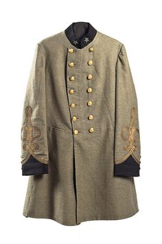Uniform Coat worn by Dr. James Postell (Charleston, SC). Postell was commissioned a surgeon in April 1861 and served as head of the Confederate hospital in Summerville, SC. Charleston Museum.