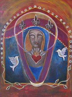 Our Lady of Compassion Painting