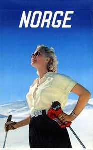 vintage ski poster 1954 Easter Bunny Eggs, Cute Easter Bunny, Vintage Ski Posters, Vintage Golf, Norway Travel, Favorite Pastime, Winter Scenes, Skiing, Luggage Labels