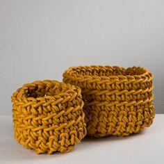 Medium CILINDRO Basket - Vessels - Interiors Darkroom London