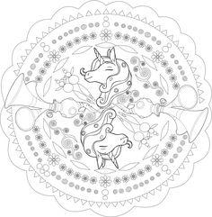 mandala einhorn, kinder-mandalas | mandala | pinterest | einhörner, ausmalbilder mandala und