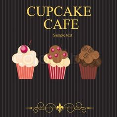 The concept of cupcakes cafe menu Vector illustration stock vector