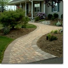 Front Walkway? I Really Like This Design And How It Flares Out At The  Driveway