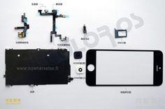 Piezas del frontal del supuesto nuevo iPhone 5