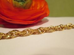 Hey, I found this really awesome Etsy listing at https://www.etsy.com/listing/194364899/vintage-chain-link-bracelet-gold-tone