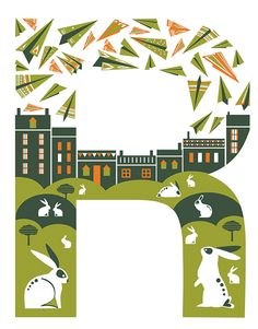 Illustrated letters, Smashing Magazine - Kate McLelland Illustration