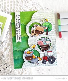 Hello crafty friends, blessed Sunday! Welcome to the My Favorite Things February Release Countdown Day 3. My card today features the Farm Friends Stamp Set and Die-namics along with other MFT produ…