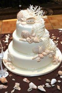 ocean themed wedding cakes | Ocean themed wedding cake.