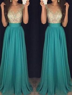 Prom Dress,Long Custom Prom Dress,Turquoise prom dress, See through prom dress, Beading prom dresses, A-line prom dress, Prom dress for teens, Modest prom dress