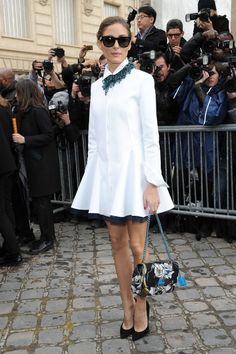 Arriving at the Christian Dior show in Paris.