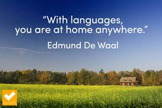 With languages you are at home anywhere #language #quote