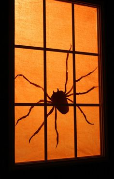 hallowen spider window