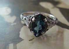 $60 blue topaz ring with interesting history