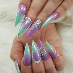 Pointy nails will be ideal for women who are super daring. Such nails are often referred to as stiletto nails and they became popular because such celebs as Adele and Rihanna kept surprising us with the extreme of their designs for stiletto nails. Let's discover all possible and impossible nail art ideas for the nail shape that offers so much space for creativity. #pointynails #naildeisgns #stilettonails