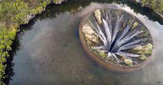 Mystisch: Drohne filmt wunderschönes Loch in See #News #Unterhaltung