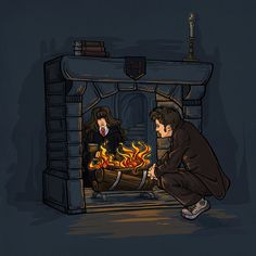 The Witch in the Fireplace Notecard - (Item 05-305) Another Etsy thing of awesome. #harrypotter #doctorwho