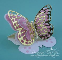 addINKtive designs: Bold Butterfly Easel Card with Watercolor Wings