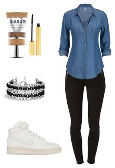 """""""Untitled #26"""" by dude-iloveyouxo ❤ liked on Polyvore featuring Hudson, NIKE, David Yurman, Buxom and Jane Iredale"""