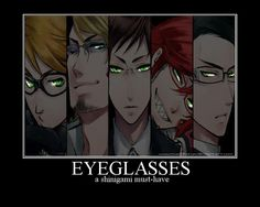 I just realized why must the reapers wear glasses. Not that I'm against them, I was just wondering...? Maybe they have chronic bad vision?