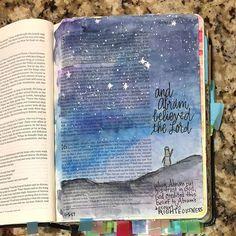 Genesis Bible Art Journaling by Bible Journaling For Beginners, Bible Study Journal, Scripture Study, Bible Art, Bible Verses, Art Journaling, Scriptures, Bible Drawing, Bible Doodling