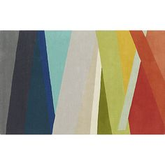 banded color stripe rug  | CB2
