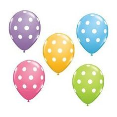 Amazon.com: 12 Polka Dot Balloons Bright Festive Colors Party Blue Green Pink and Lavender: Toys & Games