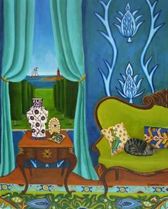 Summer Plans New original painting, painting by artist Catherine Nolin
