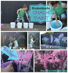 Homemade Fizzy Chalk Paint