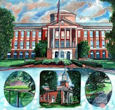 Meredith College by ArtByCorby on Etsy, $30.00