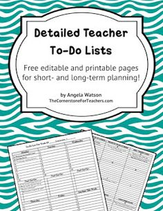 Classroom Freebies Too: Editable teacher to-do lists!
