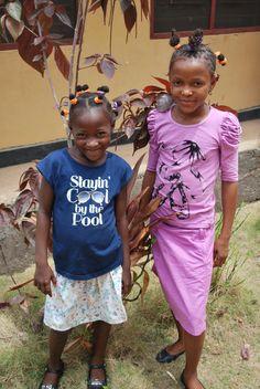 Sallay and Seinya.  The Child Rescue Centre, Bo, Sierra Leone