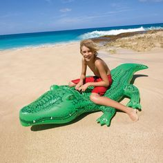 Kids Swimming Ride-on Shark Alligator Pool Floats Buoy Inflatable Air Mattress Beach Toys Water Boat Kickboard Summer Party Fun