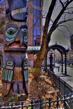 Totem Pole at Pioneer Square, Seattle, Washington