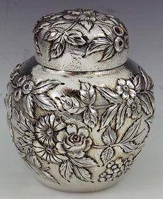 Antique sterling silver Tea Items including tea caddies tea balls and tea strainers