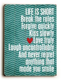 Life is Short - Different background though….
