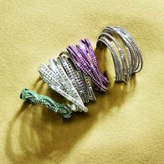 Every armparty should have at least one of our stylish Swarovski Slake bracelets. #banglemania