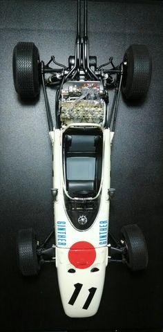 Honda RA272 1/20 tamiya Vintage Sports Cars, Vintage Race Car, Retro Cars, Grand Prix, Formula 1, Classic Race Cars, Old Race Cars, Classy Cars, Ex Machina