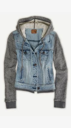 Comfy and Cozy Denim Hoodie
